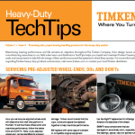 Servicing pre-adjusted wheel ends – Timken