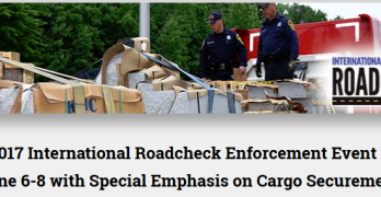 CVSA's 2017 International Roadcheck Enforcement Event to Take Place June 6-8 with Special Emphasis on Cargo Securement